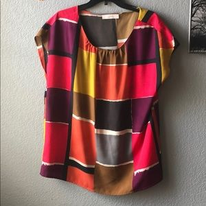 Colorful loft blouse